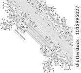 circuit board  digital...   Shutterstock .eps vector #1013995027