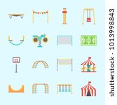 icons about amusement park with ... | Shutterstock .eps vector #1013998843