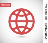 planet vector icon. earth is a... | Shutterstock .eps vector #1014001567