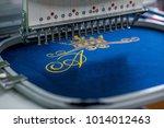 seamstress clothing industry...   Shutterstock . vector #1014012463