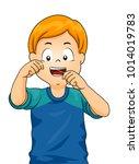 illustration of a kid boy... | Shutterstock .eps vector #1014019783