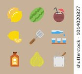 icon set about gastronomy with... | Shutterstock .eps vector #1014020827