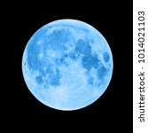 Blue Super Moon Isolated On...