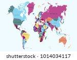 political world map | Shutterstock .eps vector #1014034117
