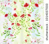 seamless background. dahlia is... | Shutterstock . vector #1014037033