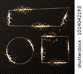 set of luxury elegant golden... | Shutterstock .eps vector #1014042193