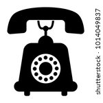 telephone vector icon | Shutterstock .eps vector #1014049837