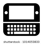 telephone vector icon | Shutterstock .eps vector #1014053833