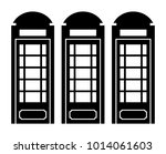telephone booth vector icon | Shutterstock .eps vector #1014061603