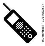 telephone vector icon | Shutterstock .eps vector #1014063637