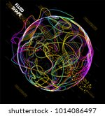 moving colorful lines of... | Shutterstock .eps vector #1014086497