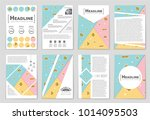 abstract vector layout... | Shutterstock .eps vector #1014095503