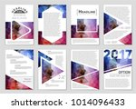 abstract vector layout... | Shutterstock .eps vector #1014096433