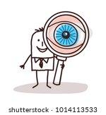 cartoon businessman with big... | Shutterstock .eps vector #1014113533