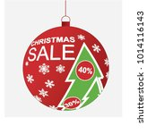 christmas sale decoration ball  ... | Shutterstock .eps vector #1014116143