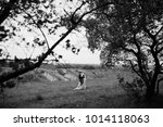look from behind the trees at...   Shutterstock . vector #1014118063