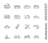 vector related transport icons... | Shutterstock .eps vector #1014122527