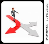 3d man chossing the right path  ... | Shutterstock . vector #1014123133