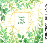 save the date card with... | Shutterstock .eps vector #1014125647