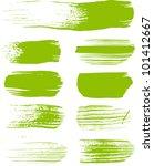 green brush strokes   the... | Shutterstock .eps vector #101412667