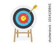 target with arrow in center.... | Shutterstock .eps vector #1014130843