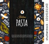 italian pasta menu design for... | Shutterstock .eps vector #1014131143