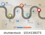 business road map timeline... | Shutterstock .eps vector #1014138373