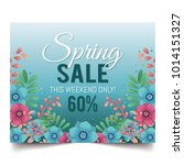 spring sale design illustration | Shutterstock .eps vector #1014151327