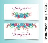 spring banners with beautiful... | Shutterstock .eps vector #1014151333