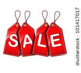 vector illustration of sale tags | Shutterstock .eps vector #101417017