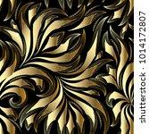 vintage gold seamless pattern.... | Shutterstock .eps vector #1014172807