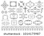set of vector graphic elements... | Shutterstock .eps vector #1014175987
