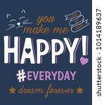 slogan graphics for t shirts | Shutterstock .eps vector #1014189637