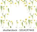 flower frame. pattern from...   Shutterstock . vector #1014197443