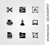 web design vector icon set.... | Shutterstock .eps vector #1014203947