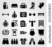 fitness vector icon set. pants  ... | Shutterstock .eps vector #1014204853