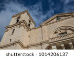 Small photo of Facade of St. John's Co-Cathedral in Valletta, Malta