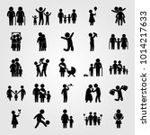 humans vector icon set. son ... | Shutterstock .eps vector #1014217633