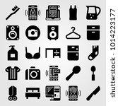 shopping vector icon set. bed ...   Shutterstock .eps vector #1014223177