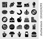 food and drinks vector icon set.... | Shutterstock .eps vector #1014224293
