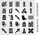 medical vector icon set. patch  ... | Shutterstock .eps vector #1014226843