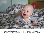 portrait of cute baby boy with... | Shutterstock . vector #1014228967