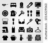shopping vector icon set....   Shutterstock .eps vector #1014229063