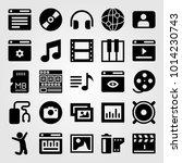 multimedia vector icon set....   Shutterstock .eps vector #1014230743