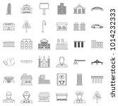 huge city icons set. outline... | Shutterstock .eps vector #1014232333