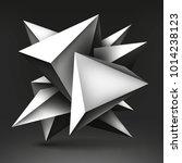 volume geometric shape  3d...   Shutterstock .eps vector #1014238123