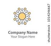 abstract logo design  circle... | Shutterstock .eps vector #1014246667