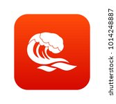 wave icon digital red for any... | Shutterstock .eps vector #1014248887
