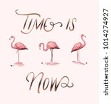 time is now slogan with... | Shutterstock .eps vector #1014274927