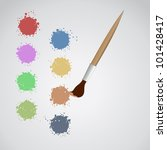 color art pencil wallpaper | Shutterstock .eps vector #101428417